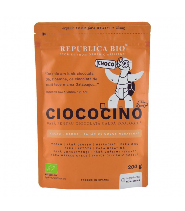 Ciococino baza pentru ciocolata calda ecologica Republica BIO 200 g