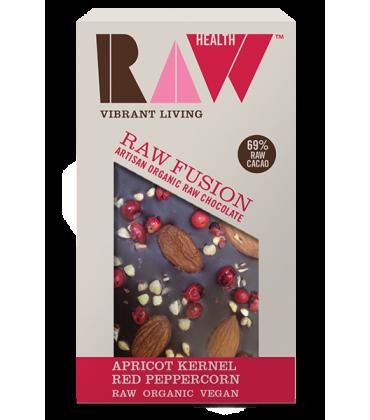 Ciocolata artizanala cu caise si piper rosu raw bio 30g