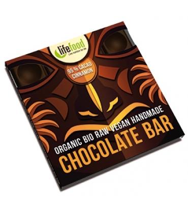 Ciocolata cu 95% cacao si scortisoara Raw Bio