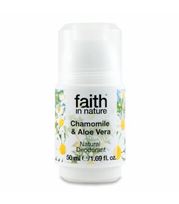Deodorant roll on natural cu musetel si aloe vera Faith in Nature 50ml