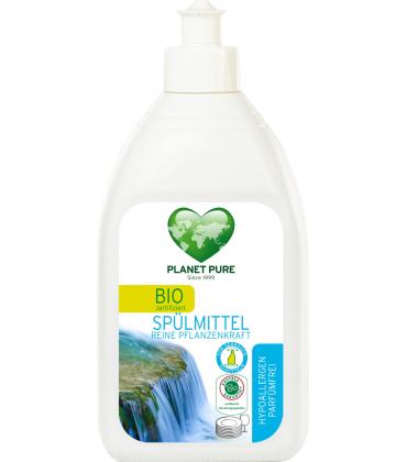 Detergent bio pentru vase hipoalergen fara parfum 510ml Planet Pure