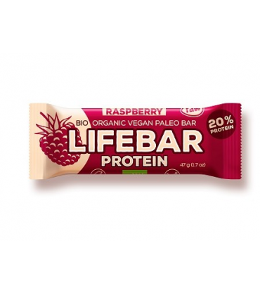 Lifebar baton proteic cu zmeura raw bio