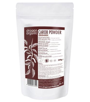 Pudra de carob roscove bio 200g