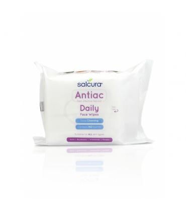Servetele umede Antiac Daily pt tenul cu acnee cosuri puncte albe sau negre Salcura 25 buc