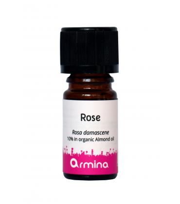 Ulei esential de trandafir rosa damascena in ulei de migdale bio 5ml